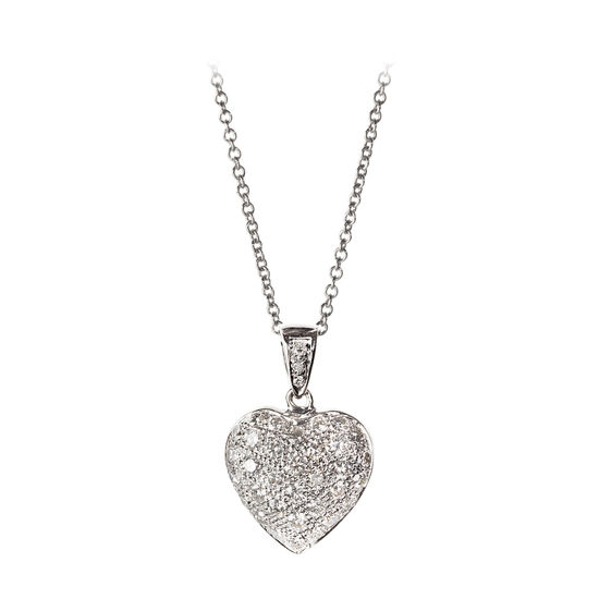 Mon Chere 0.72ct. Diamond Heart Pendant Necklace from Aspinal of London