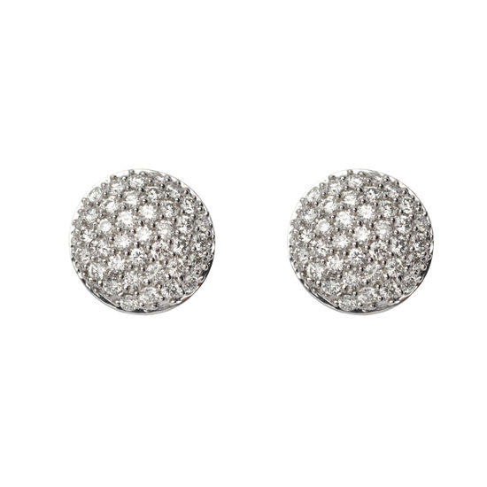 Pave Dome Diamond Stud Earrings from Aspinal of London