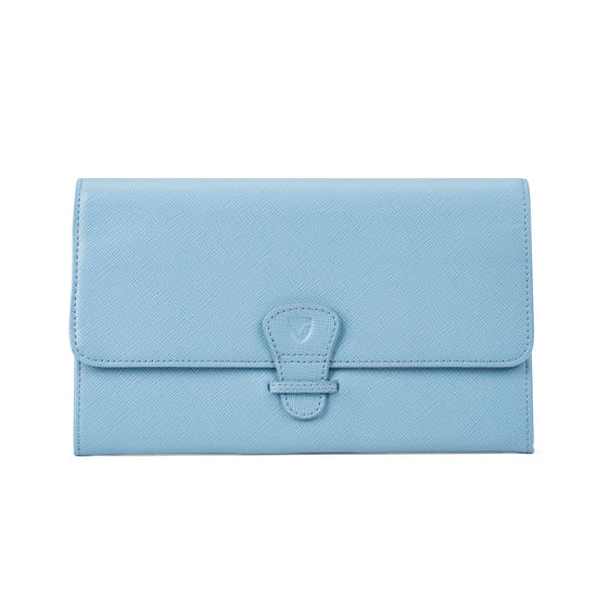 Classic Travel Collection in Bluebird Saffiano from Aspinal of London