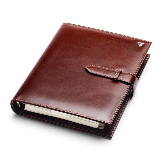 Large Executive Organiser in Smooth Cognac from Aspinal of London