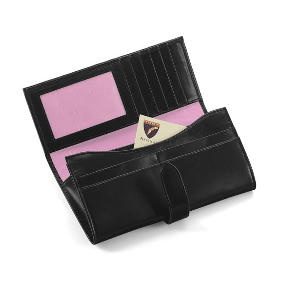 London Ladies Purse Wallet in Smooth Black from Aspinal of London