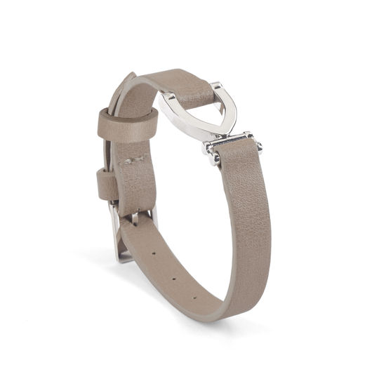 Stirrup Bracelet in Smooth Nude from Aspinal of London