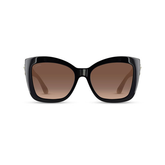 Amalfi Sunglasses (Black Acetate) from Aspinal of London