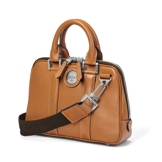 Aerodrome Mini Mission Bag in Smooth Tan from Aspinal of London