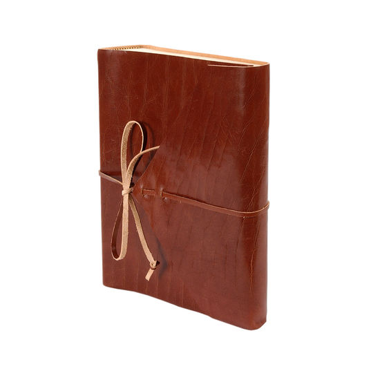 Envelope Wrap Portrait Photo Album in Brown with Cream Pages from Aspinal of London