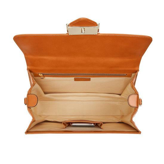 Large Lion Lansdowne Bag in Smooth Tan from Aspinal of London