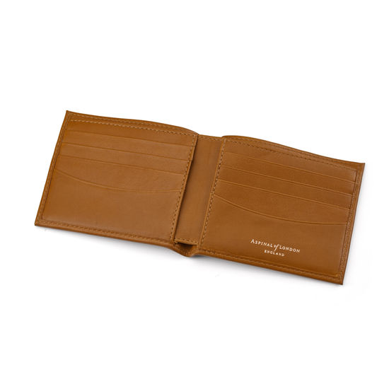8 Card Billfold Wallet in Smooth Tan from Aspinal of London