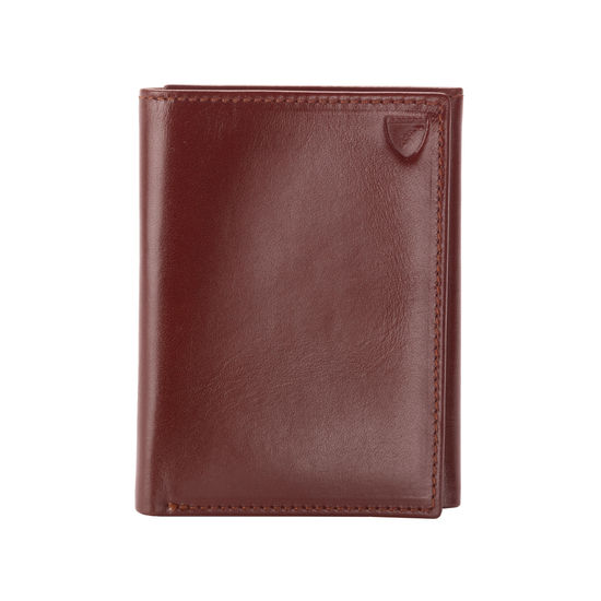 Trifold Wallet in Smooth Cognac from Aspinal of London