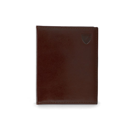 ID & Travel Card Case in Smooth Cognac & Espresso Suede from Aspinal of London