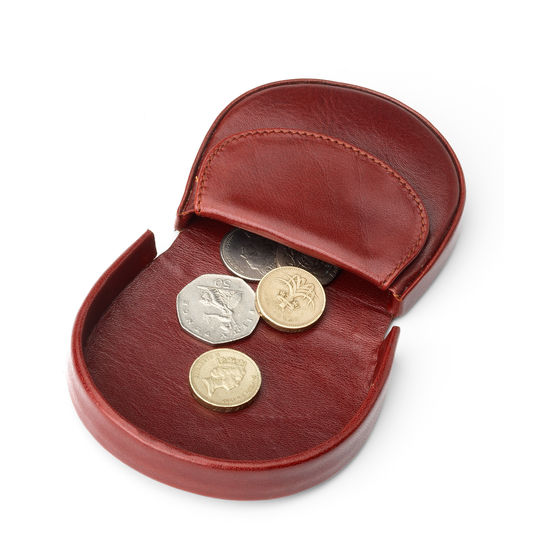 Horseshoe Coin Holder in Smooth Cognac from Aspinal of London