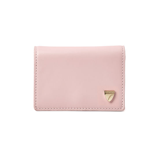 Accordion Zipped Credit Card Holder in Smooth Peony from Aspinal of London