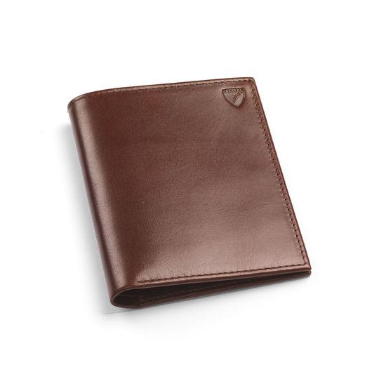 Double Fold Credit Card Case with Notes Pocket in Smooth Cognac from Aspinal of London