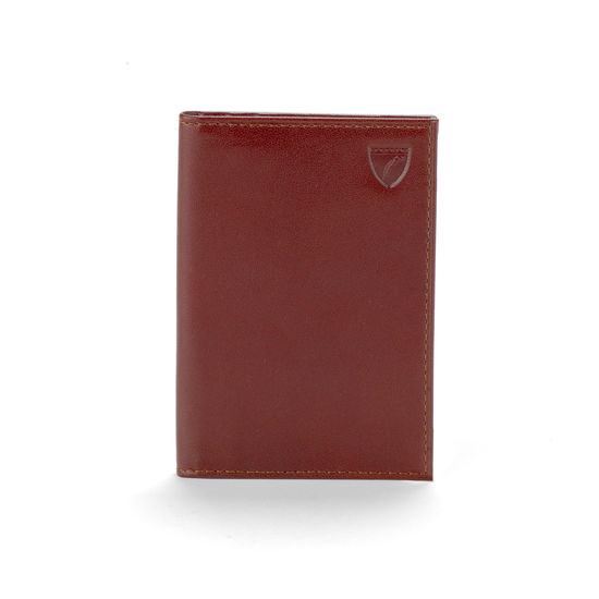 Double Fold Credit Card Case in Smooth Cognac from Aspinal of London