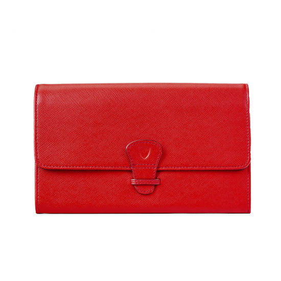 Classic Travel Wallet in Scarlet Saffiano from Aspinal of London
