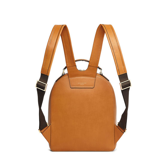 Medium Mount Street Backpack in Smooth Tan from Aspinal of London