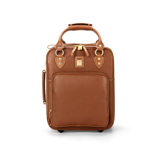 Candy Case in Tan Pebble Calf from Aspinal of London