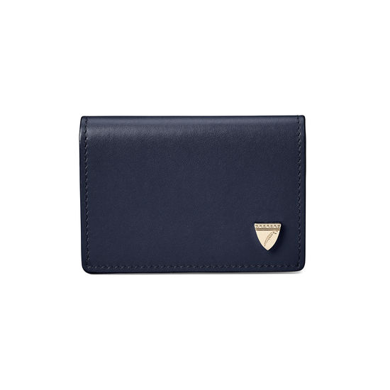 Accordion Zipped Credit Card Holder in Smooth Blue Moon from Aspinal of London