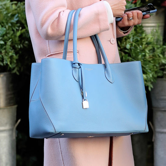 London Tote in Bluebird Pebble from Aspinal of London
