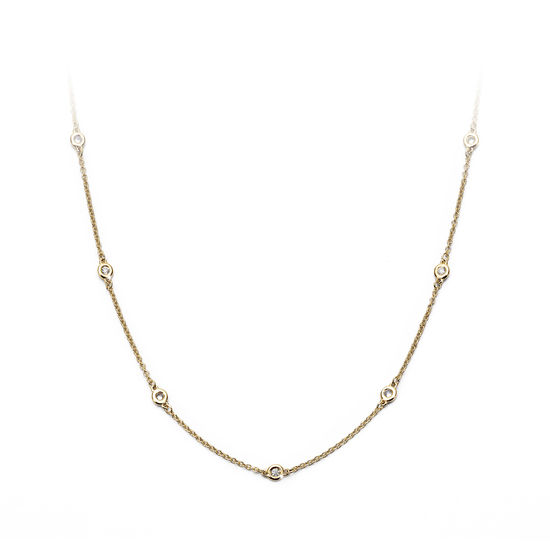 Celeste 18ct Gold Diamond Necklace from Aspinal of London