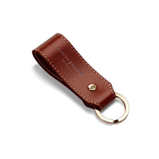 Leather Loop Keyring in Smooth Cognac from Aspinal of London