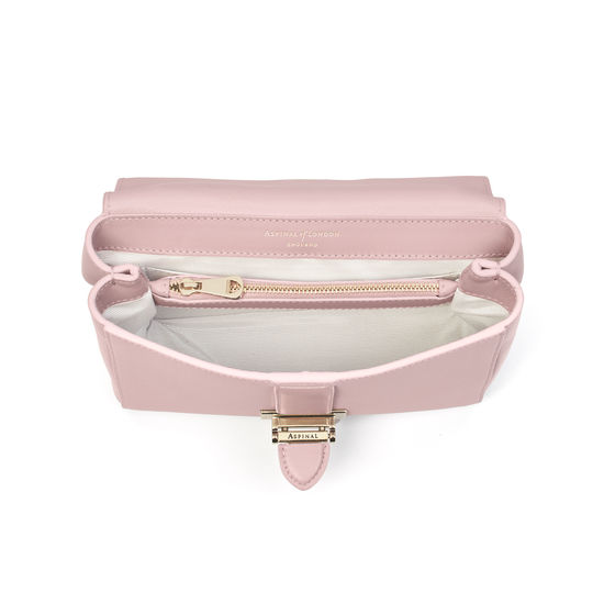 Small Lottie Bag in Peony Saffiano from Aspinal of London