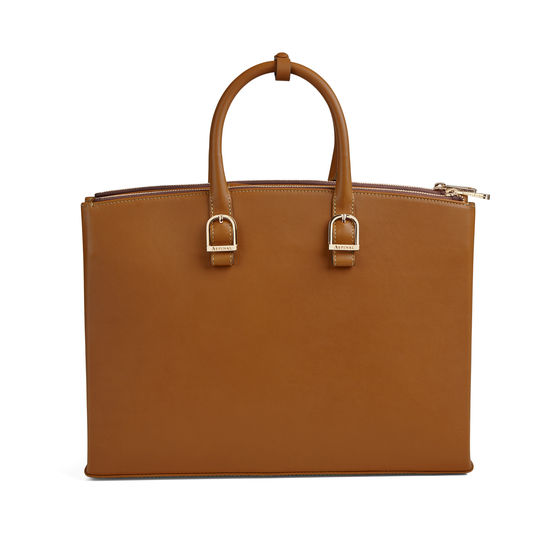 Madison Tote in Smooth Tan from Aspinal of London