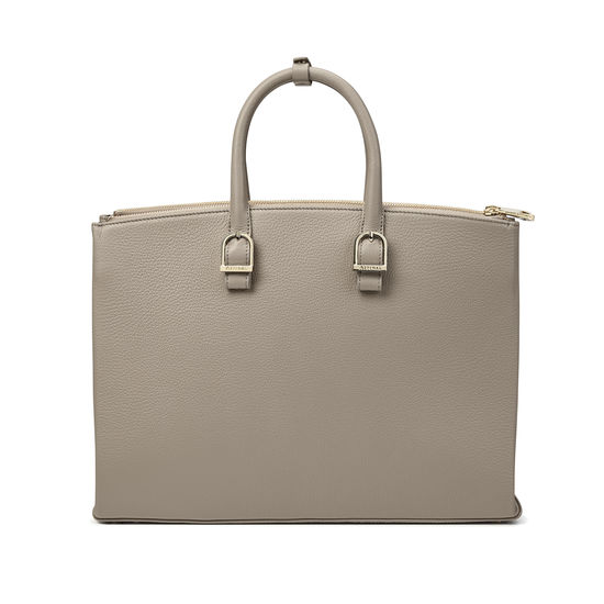 Madison Tote in Warm Grey Pebble from Aspinal of London