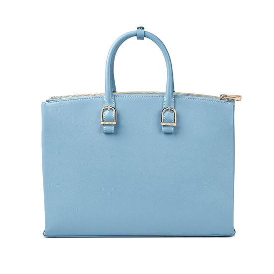 Madison Tote in Bluebird Saffiano from Aspinal of London