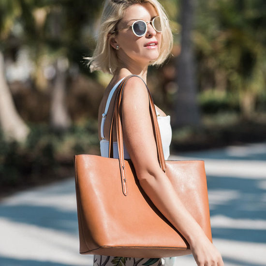 Regent Tote in Smooth Natural Tan from Aspinal of London