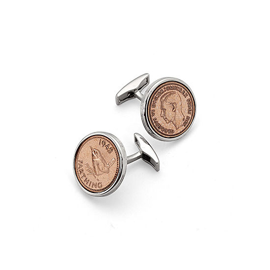 Farthing Cufflinks from Aspinal of London
