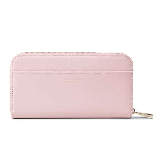 Continental Purse in Peony Saffiano from Aspinal of London