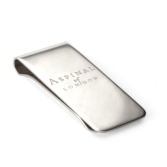 Aspinal Signature Sterling Silver Money Clip from Aspinal of London