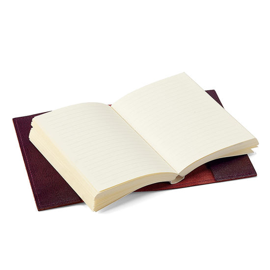 Refillable Pocket Notebook in Burgundy Saffiano from Aspinal of London