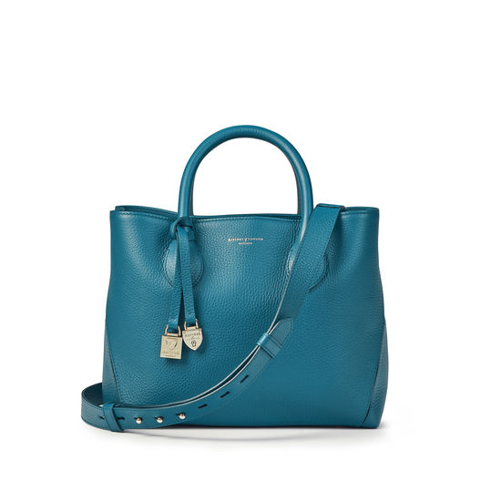 Midi London Tote in Topaz Pebble from Aspinal of London