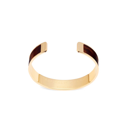 Cleopatra Skinny Cuff Bracelet in Deep Shine Tortoiseshell Patent from Aspinal of London