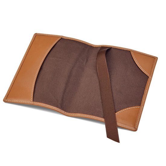 Aerodrome Passport Cover in Smooth Tan from Aspinal of London