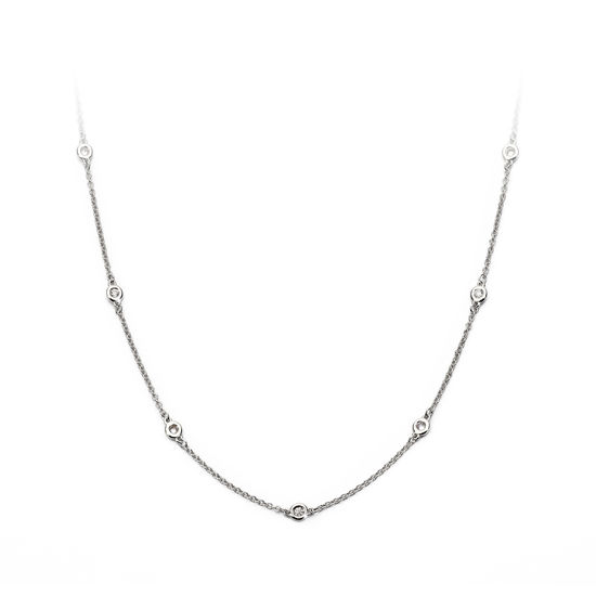 Celeste 18ct White Gold Diamond Necklace from Aspinal of London