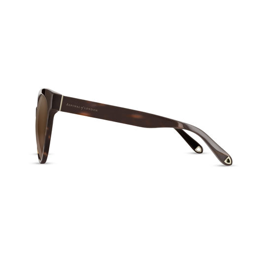Capri Sunglasses in Tortoiseshell Acetate from Aspinal of London