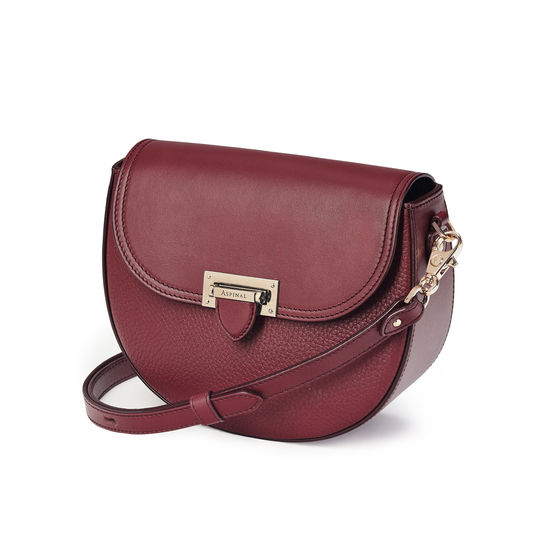 Portobello Bag in Bordeaux Pebble from Aspinal of London