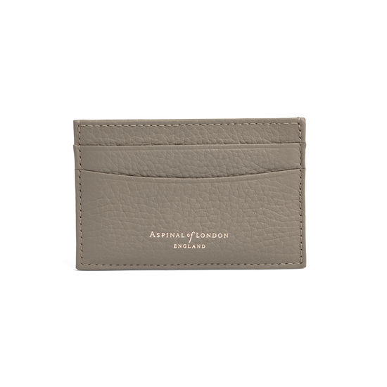 competitive price a4d66 a408d Slim Credit Card Case in Warm Grey | Aspinal of London