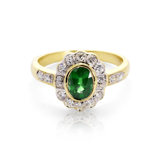 Debutante Emerald & Diamond Ring from Aspinal of London