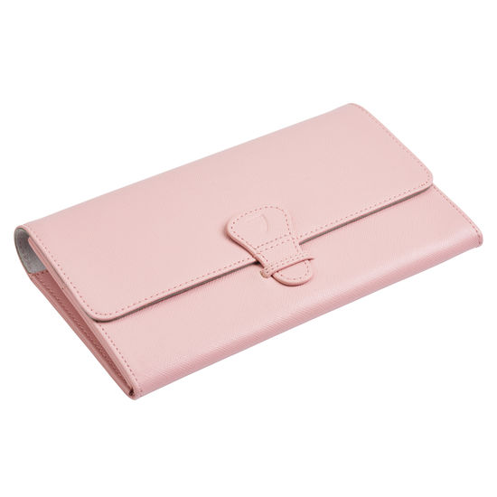 Classic Travel Wallet in Peony Saffiano from Aspinal of London