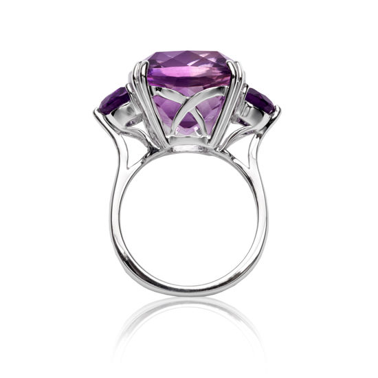 Ophelia Amethyst Cocktail Ring from Aspinal of London