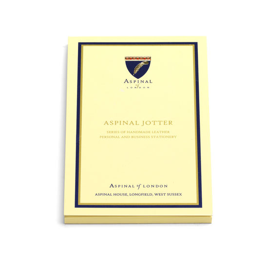 Pocket Memo Pad Jotter Refill with Plain Pages from Aspinal of London