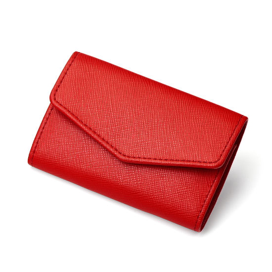 Ladies' Manicure Set in Scarlet Saffiano from Aspinal of London