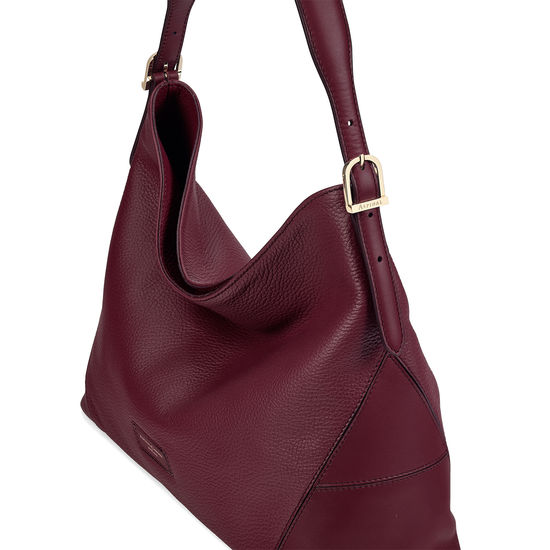 Aspinal Hobo in Bordeaux Pebble from Aspinal of London