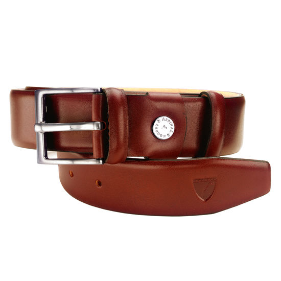 Classic Men's Belt in Smooth Cognac from Aspinal of London