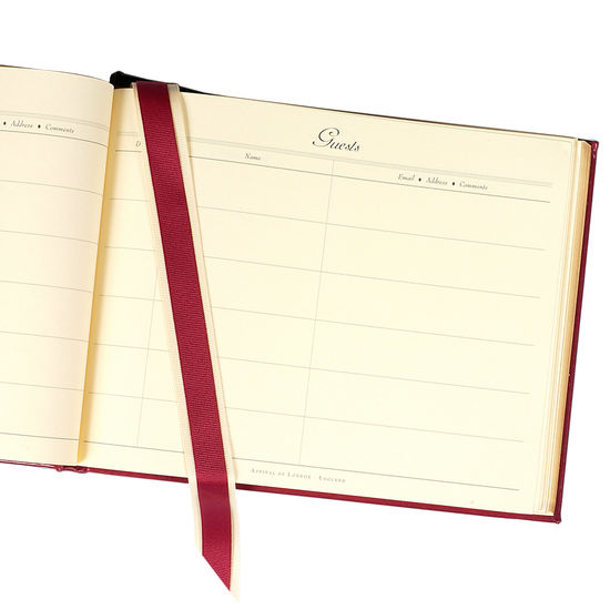 Classic Guest Book in Red from Aspinal of London