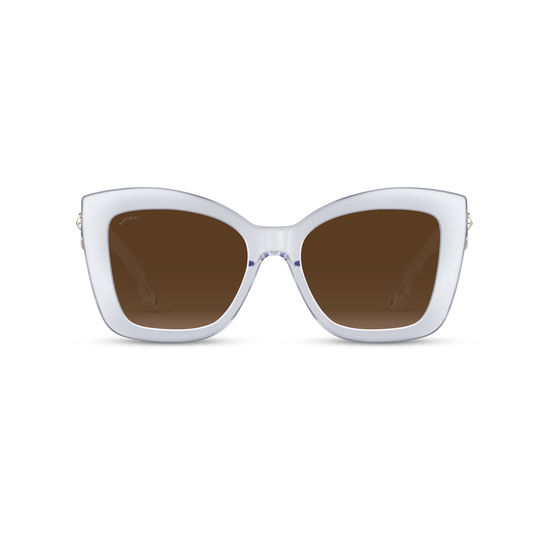 Amalfi Sunglasses in Crystal Acetate from Aspinal of London
