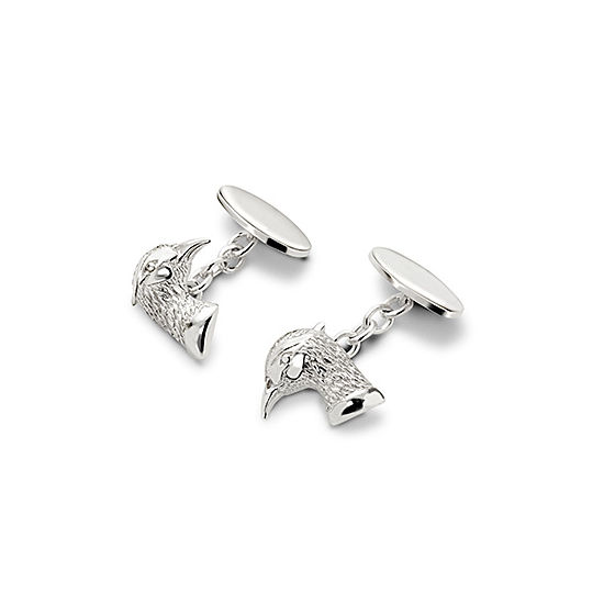 Sterling Silver Pheasant Cufflinks from Aspinal of London